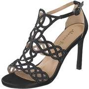Alma en Pena Schwarze Schuhe Sandale Fersenkappe  schwarz