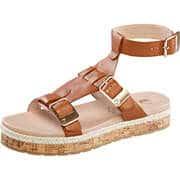 Be Natural Komfort Sandale  braun