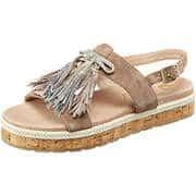 Be Natural Riemchen Sandale  beige