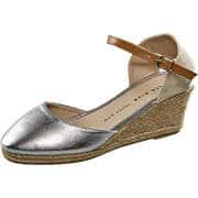 Bella Diva loves you Sommerschuhe Keilsandale  silber