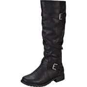 Charmosa Schwarze Schuhe Langschaftstiefel  schwarz