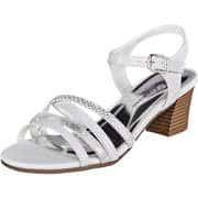 Charmosa Damen Sommerschuhe Sandale  weiß