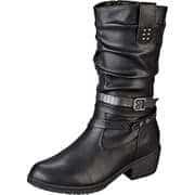 Charmosa Schwarze Schuhe Stiefel  schwarz