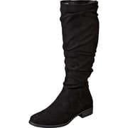 Claudia Ghizzani Schwarze Schuhe Langschaftstiefel  schwarz