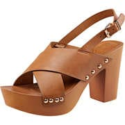 Claudia Ghizzani Sommerschuhe Plateausandale  braun