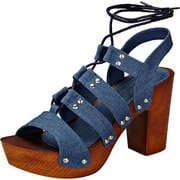 Claudia Ghizzani Riemchen Sandale  jeansblau