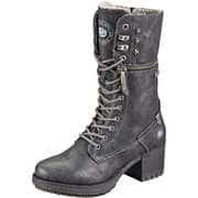 Dockers Schwarze Schuhe Schnürstiefel  schwarz