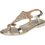 Fiocco Damen Sommerschuhe Sandale  gold