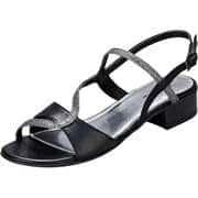 Fiocco Damen Sommerschuhe Sandale  schwarz