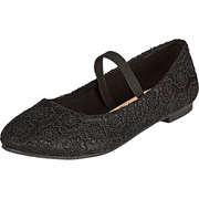 Inspired Shoes Kinder Sommerschuhe Ballerina  schwarz