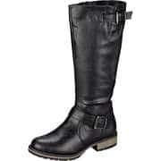Inspired Shoes Schwarze Schuhe Langschaftstiefel  schwarz