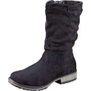 Inspired Shoes Schwarze Schuhe Stiefel  schwarz