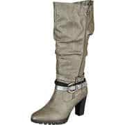 Inspired Shoes Klassische Stiefel Langschaftstiefel  grau