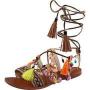 Inspired Riemchen Sandale  braun