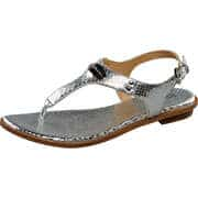 Michael Kors Sommerschuhe Plate Thong-Sandale  silber