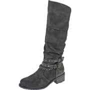 Mustang Graue Schuhe Langschaftstiefel  grau