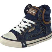 Mustang High Top Sneaker Leinen Boot  jeansblau