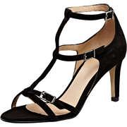 Perlato Riemchen Sandale  schwarz