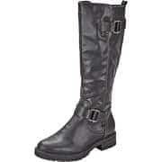 Puccetti Schwarze Schuhe Langschaftstiefel  schwarz
