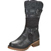 Puccetti Schwarze Schuhe Stiefel  schwarz