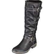 Puccetti Tex Schuhe Stiefel  schwarz