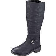 Relife Schwarze Schuhe Langschaftstiefel  schwarz