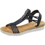 Rieker Sommerschuhe Sandale  blau