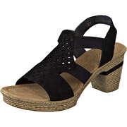 Rieker Riemchen Sandale  schwarz