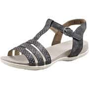 Rieker Sommerschuhe Sandale  schwarz