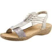 Rieker Riemchen Sandale  silber