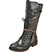 Rieker Graue Schuhe Schnürstiefel  grau