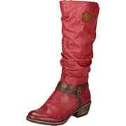 Rieker Biker & Cowboy Style Stiefel  weinrot