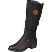 Rieker Wasserabweisende Schuhe Tex Langschaftstiefel  schwarz