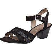 Softline Riemchen Sandale  schwarz
