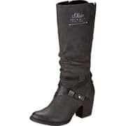 s.Oliver Biker & Cowboy Style Langschaftstiefel  schwarz