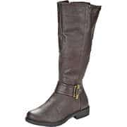 Studio London Damen Winterschuhe Langschaftstiefel  braun