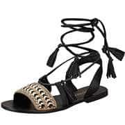 Tendenzza Riemchen Sandale  schwarz