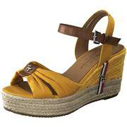 Tom Tailor Gelbe Schuhe Keilsandale  gelb