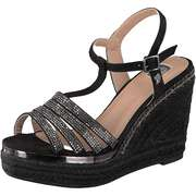 Tom Tailor Espadrilles Sandale  schwarz