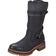Tom Tailor Schwarze Schuhe Stiefel  schwarz