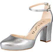 Unisa Silberne Schuhe Spangenpumps  silber