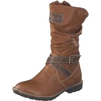 - s.Oliver Langschaftstiefel Mädchen braun - Onlineshop Schuhcenter