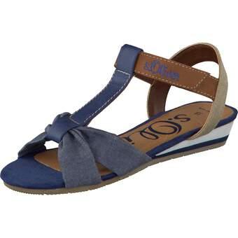 s.Oliver Mädchen-Sandale blau