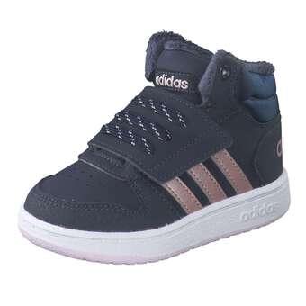 adidas Hoops Mid 2.0 I Klett Boot Mädchen blau