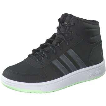 - adidas Hoops MID 2.0 K Sneaker Mädchen|Jungen schwarz - Onlineshop Schuhcenter
