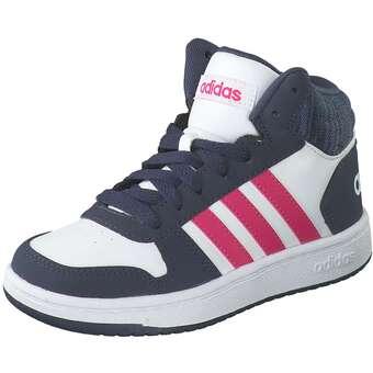 adidas Hoops Mid 2.0 K Sneaker Mädchen weiß