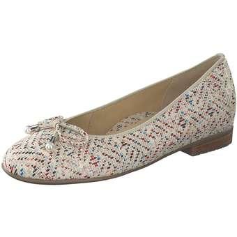 Gabor Damen Ballerina Ballerinas Schlupfschuhe aus Veloursleder Gummizug Schuhe