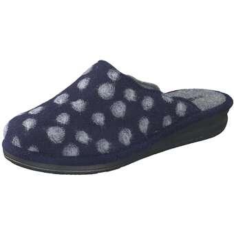 Hausschuhe - Rohde Barletta Hausschuhe Damen blau  - Onlineshop Schuhcenter