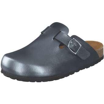 Clogs für Frauen - Bio Life Clog Pantolette Damen silber  - Onlineshop Schuhcenter