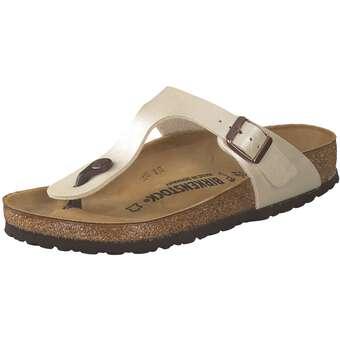 Sandalen für Frauen - Birkenstock Gizeh Zehentrenner Damen weiß  - Onlineshop Schuhcenter